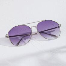 Maenner Sonnenbrille mit Leiste oben