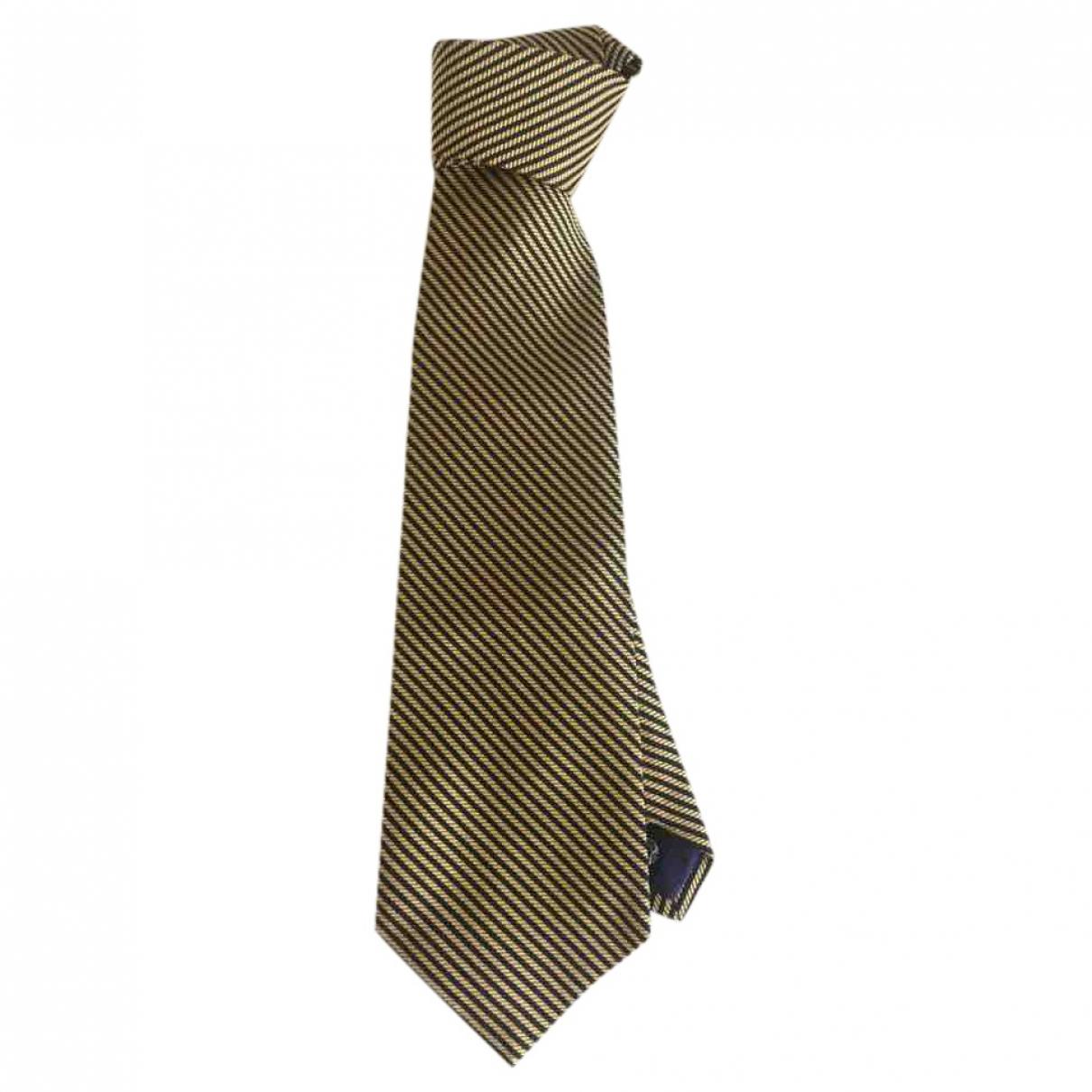 Faconnable - Cravates   pour homme en soie - jaune