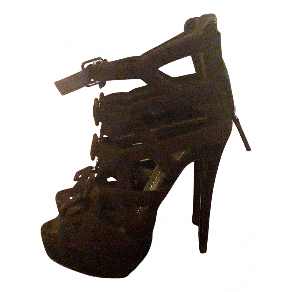 Giuseppe Zanotti N Black Suede Sandals for Women 37 EU