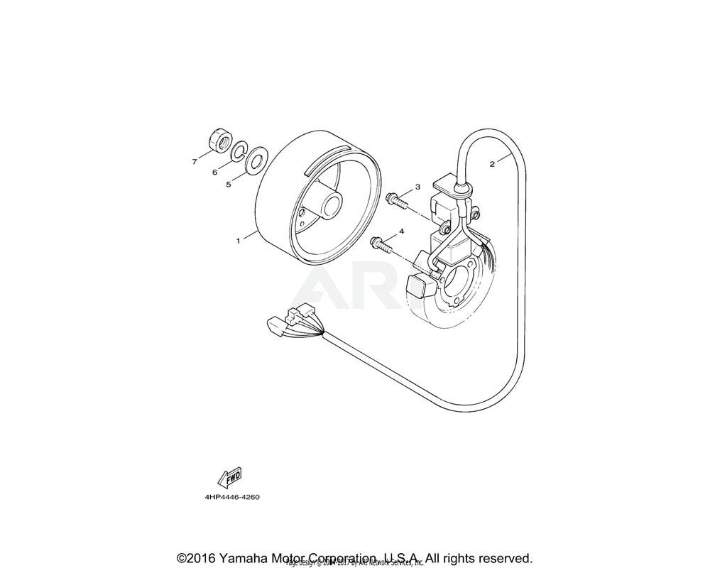 Yamaha OEM 97607-06316-00 SCREW, WITH WASHER
