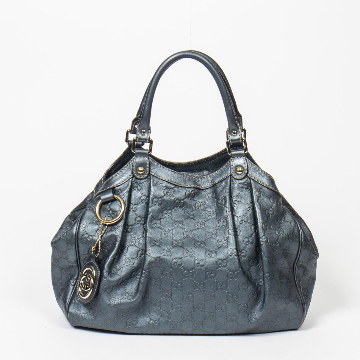Gucci Sukey Blue Leather handbag for Women \N