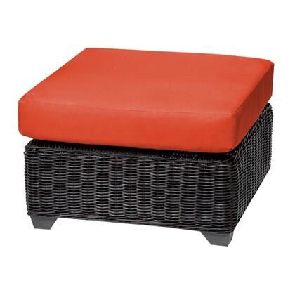 TKC050b-O-TANGERINE Venice Ottoman with 2 Covers: Wheat and