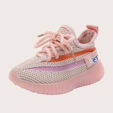 Zapatillas deportivas tejidas de niñitas con cordon