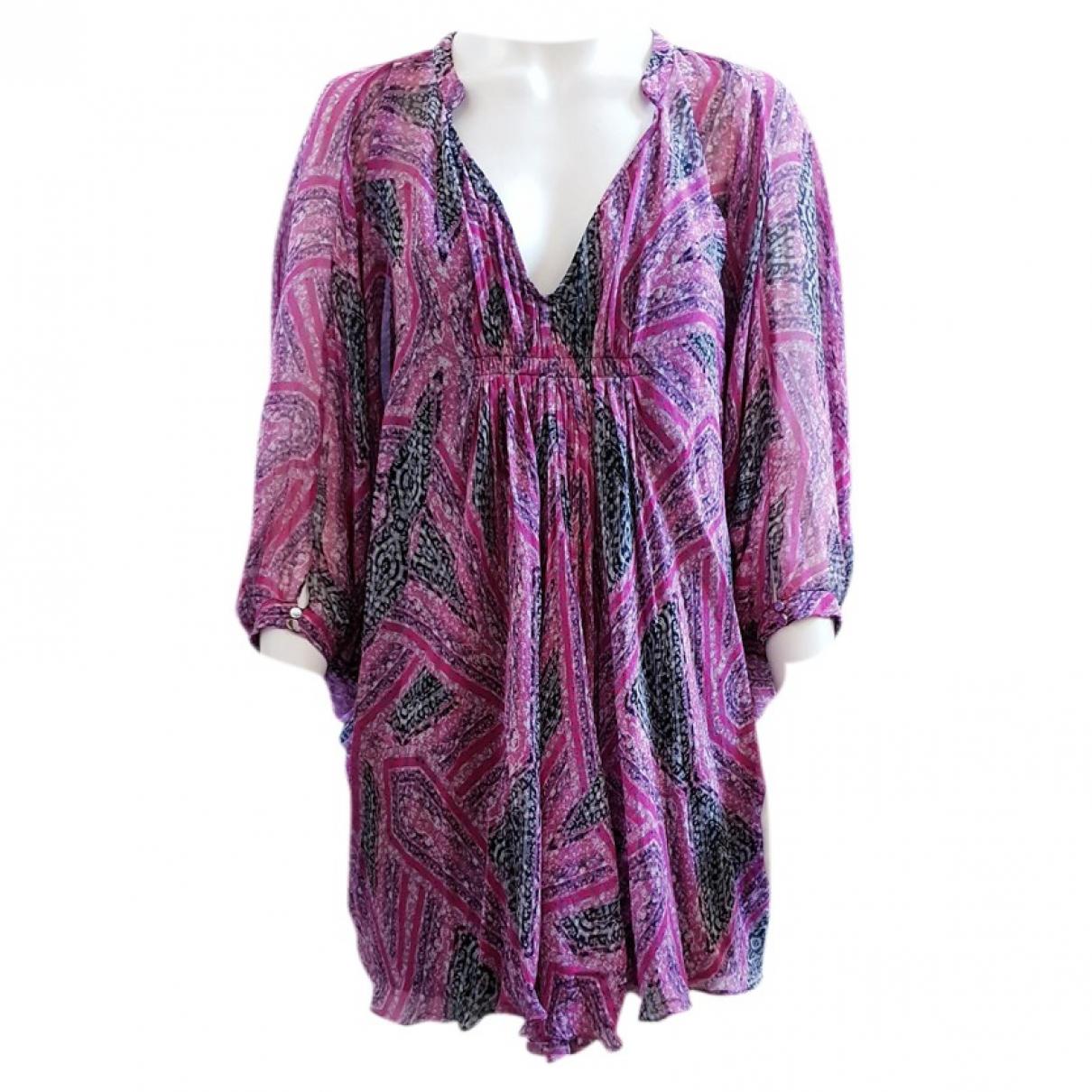 Diane Von Furstenberg - Robe   pour femme en soie - rose