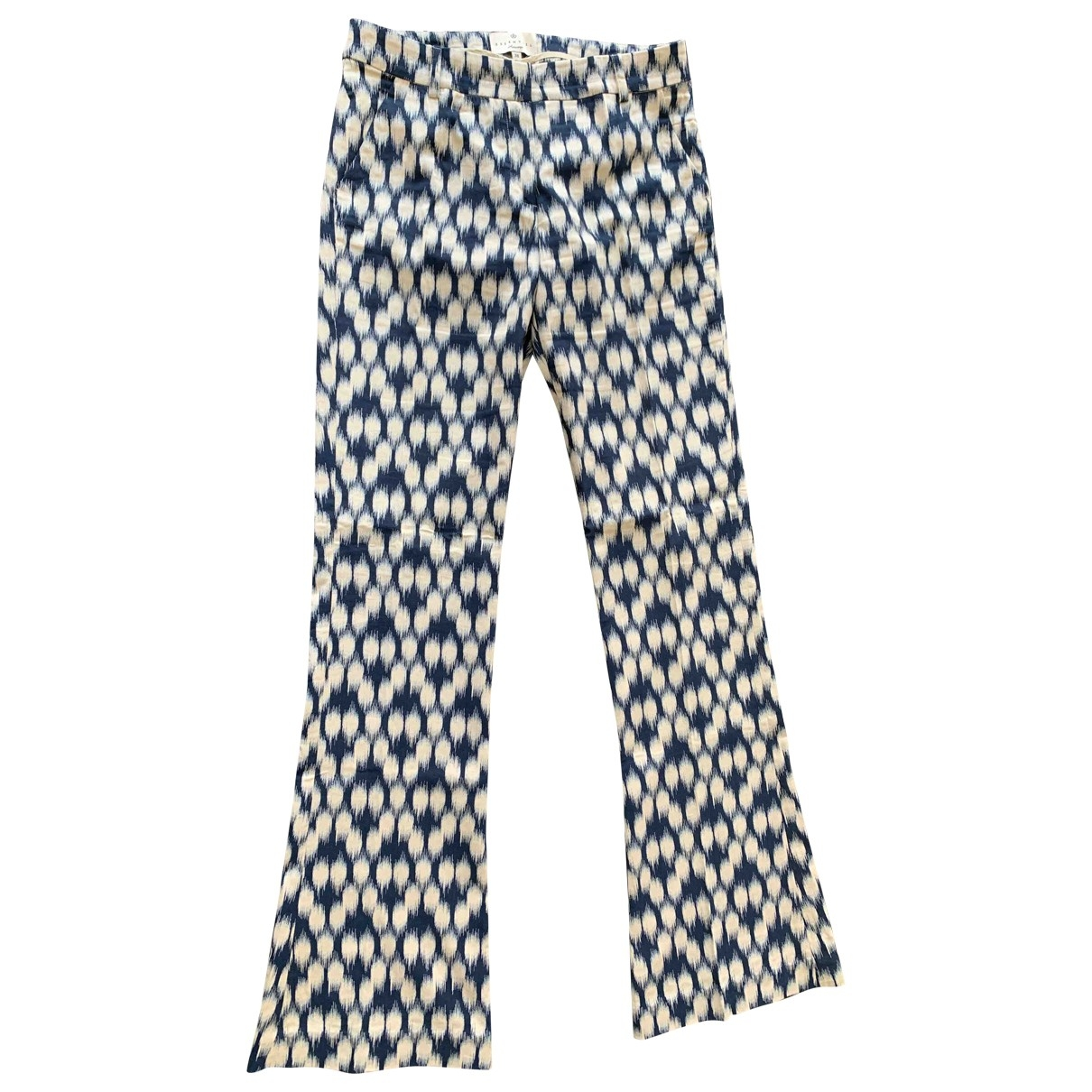 Essentiel Antwerp \N Multicolour Cotton Trousers for Women 38 IT
