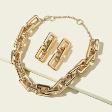 3 piezas set joya con cadena
