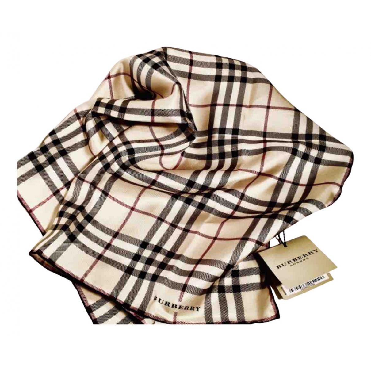 Burberry \N Beige Silk scarf for Women \N