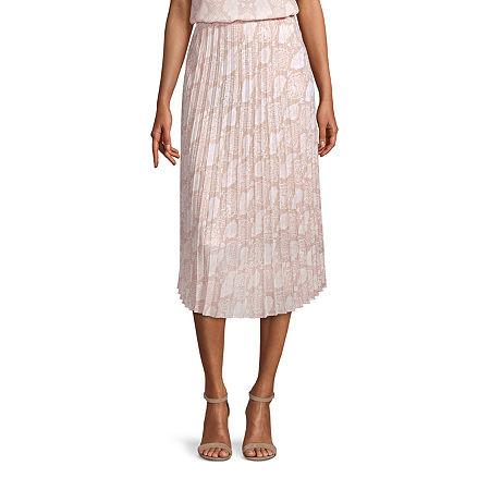 Worthington Womens Midi Skirt, Petite Medium , White