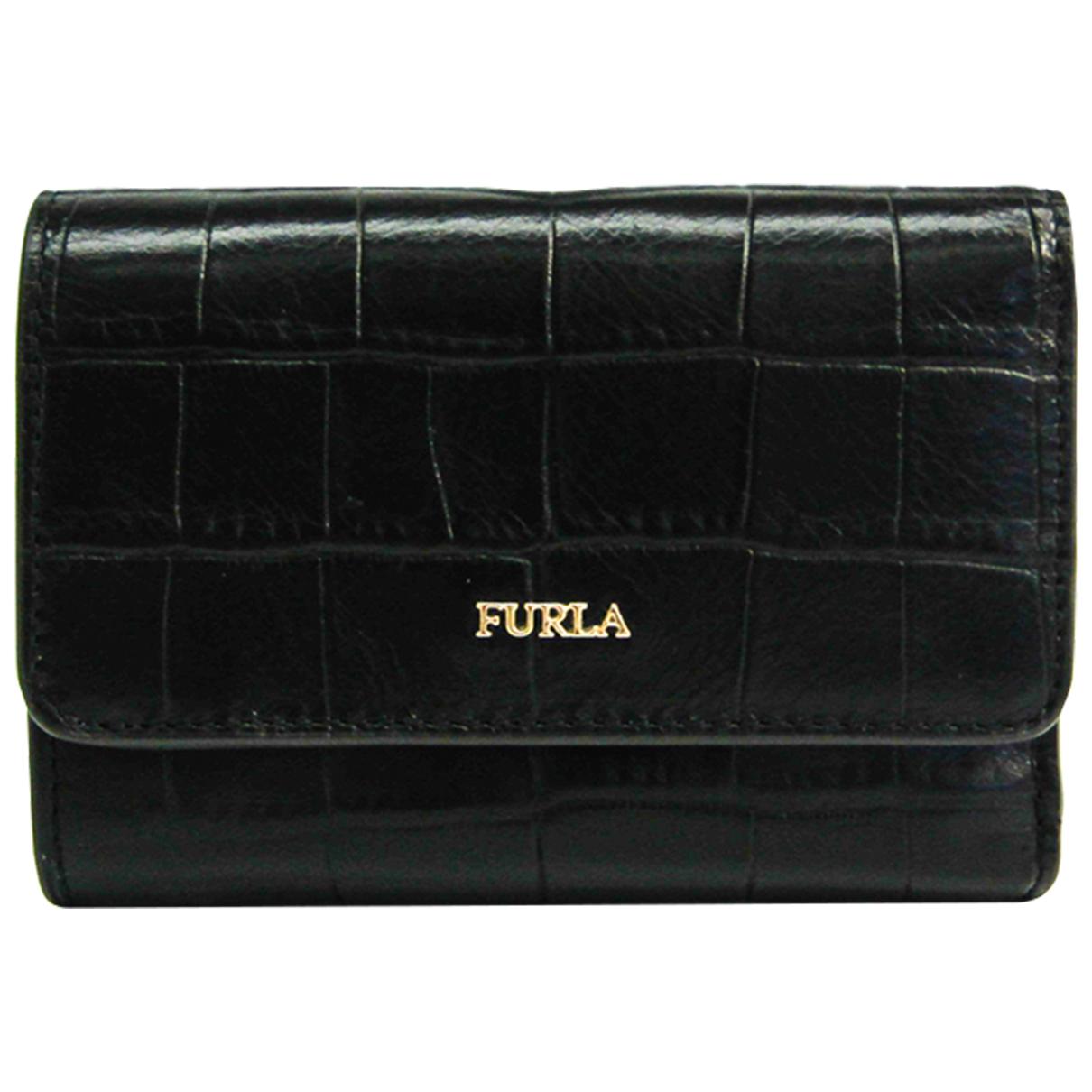 Furla - Portefeuille   pour femme en cuir - noir