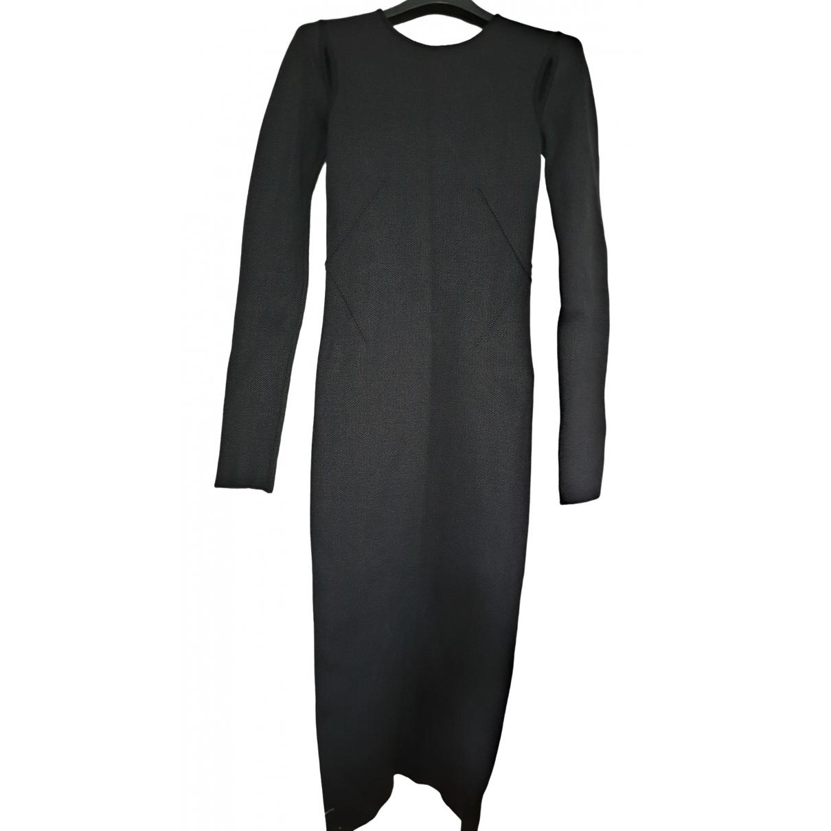 Agnona \N Kleid in  Schwarz Seide