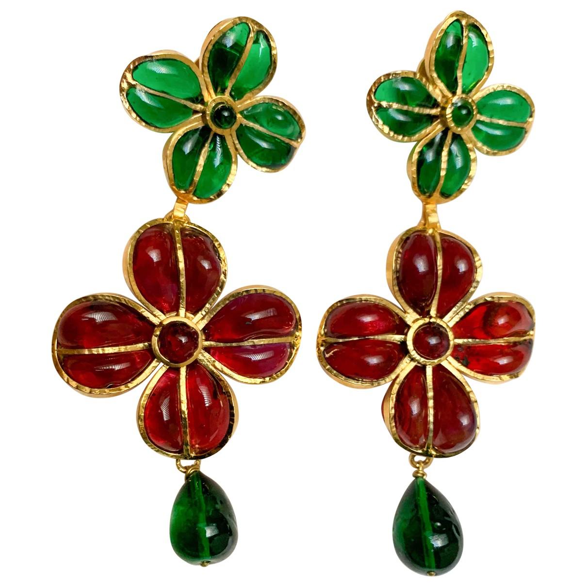 Chanel Gripoix Multicolour Glass Earrings for Women \N