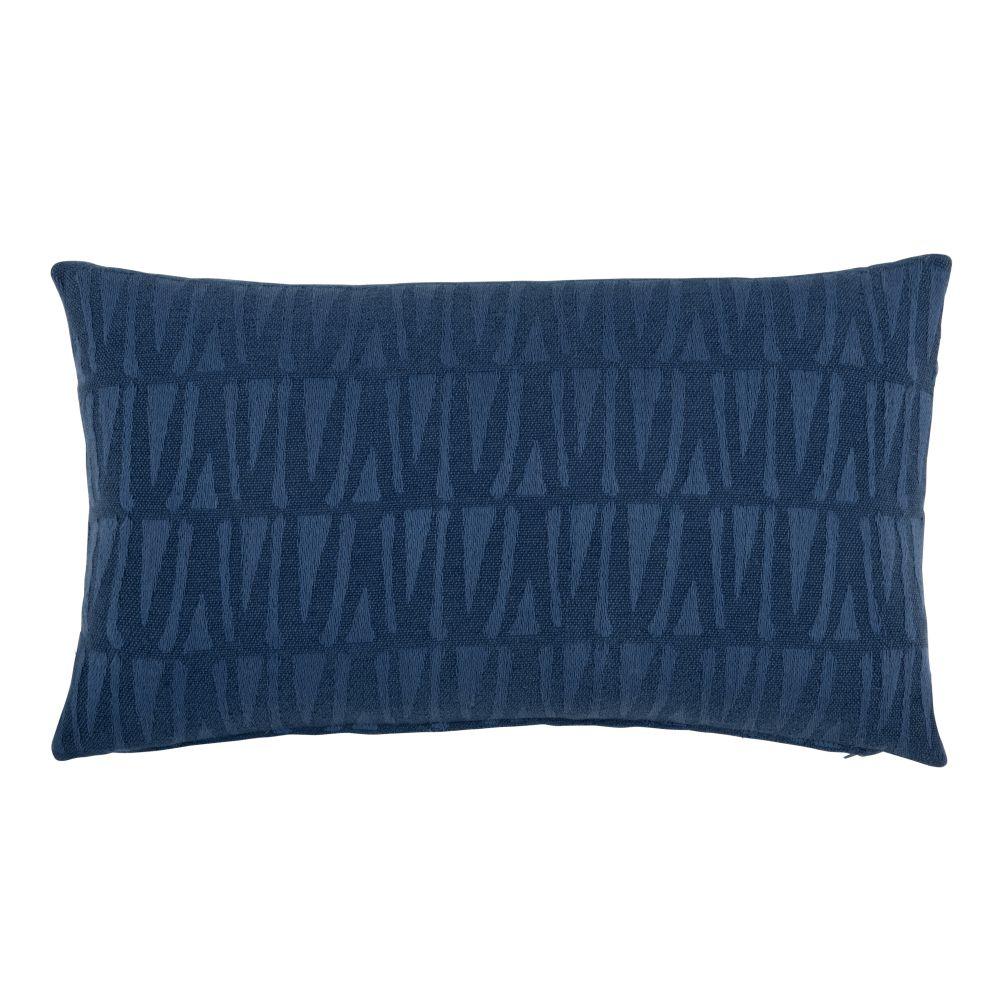 Kissenbezug aus blauer Baumwolle mit Motiven 30x50