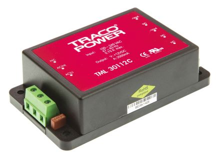 TRACOPOWER , 30W Embedded Switch Mode Power Supply SMPS, 12V dc, Encapsulated