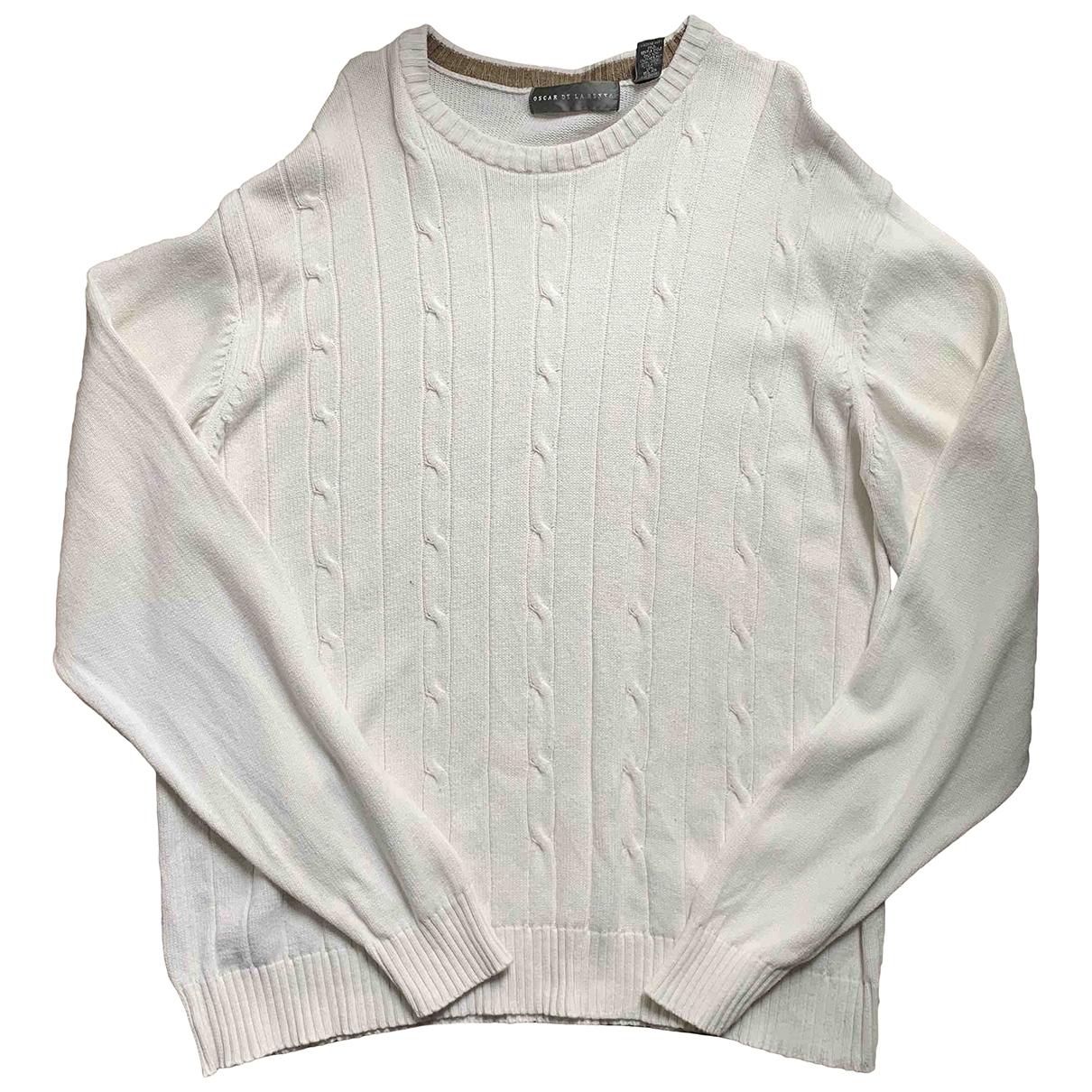Oscar De La Renta \N Pullover.Westen.Sweatshirts  in  Ecru Wolle
