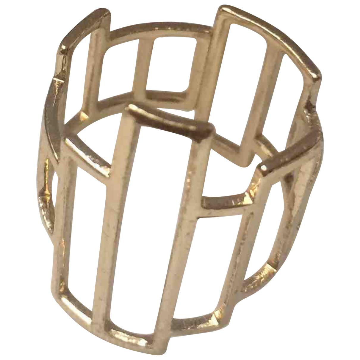 - Bague   pour femme en metal - dore