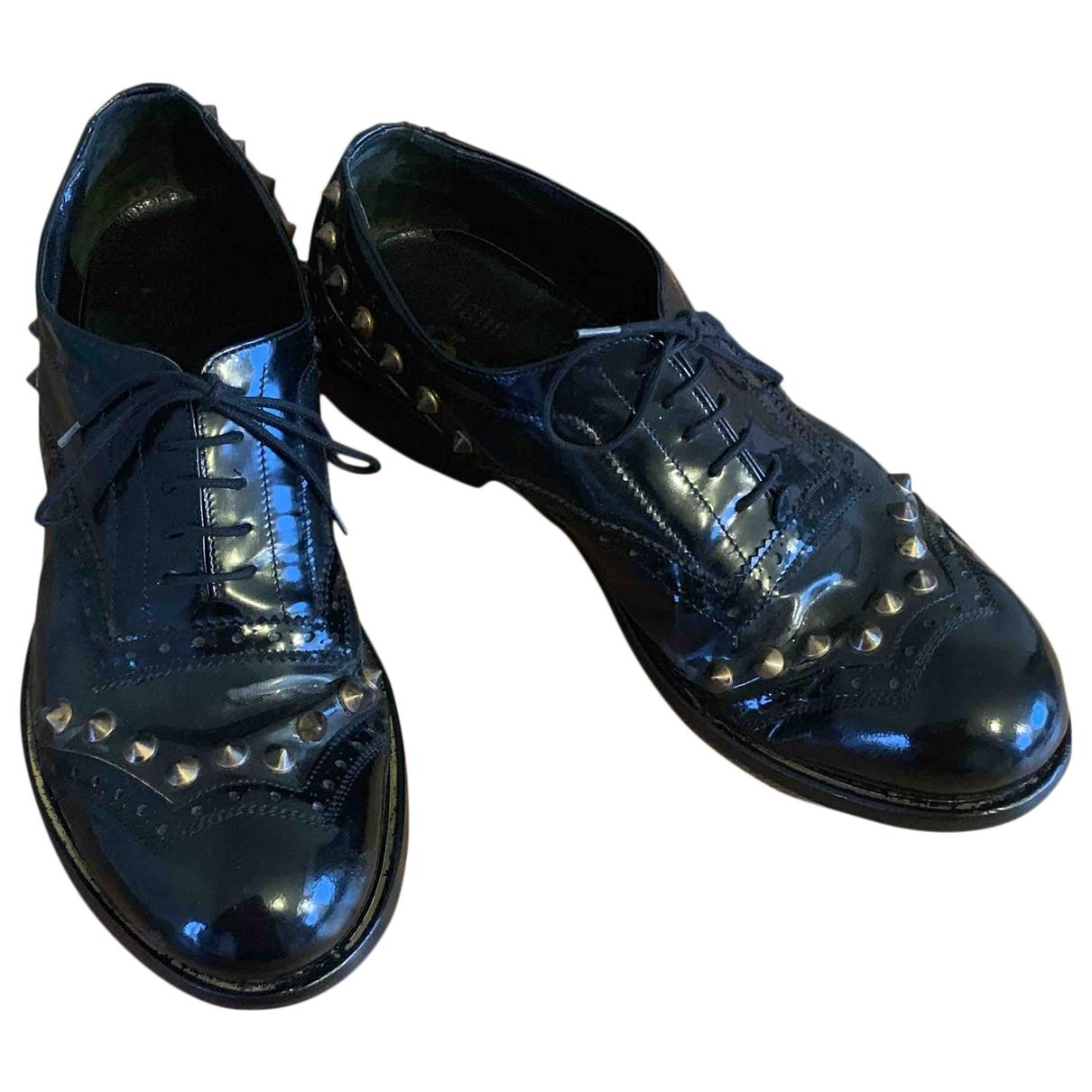 John Galliano \N Black Patent leather Lace ups for Men 42 EU