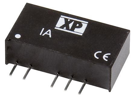 XP Power IA 1W Isolated DC-DC Converter Through Hole, Voltage in 21.6 → 26.4 V dc, Voltage out ±24V dc