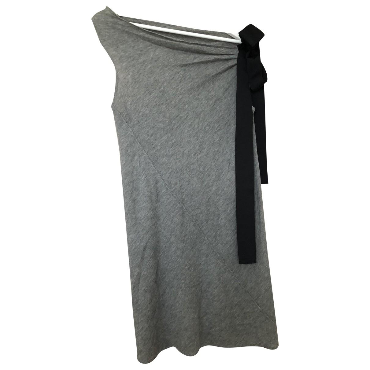 D&g \N Kleid in  Grau Wolle