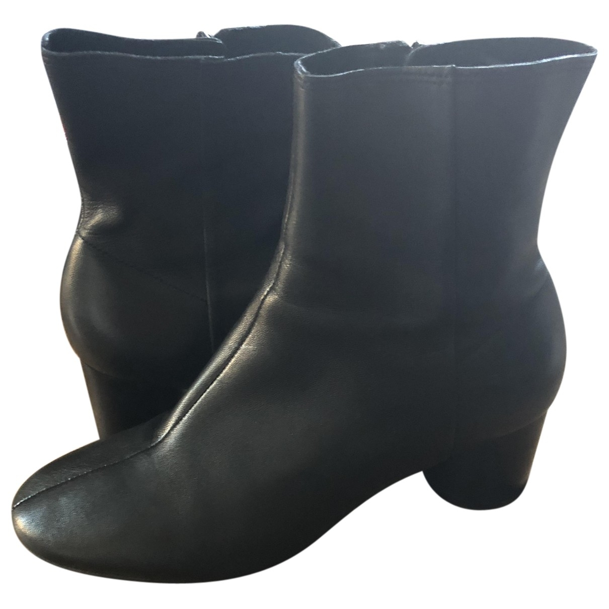 & Stories \N Black Leather Ankle boots for Women 39 EU