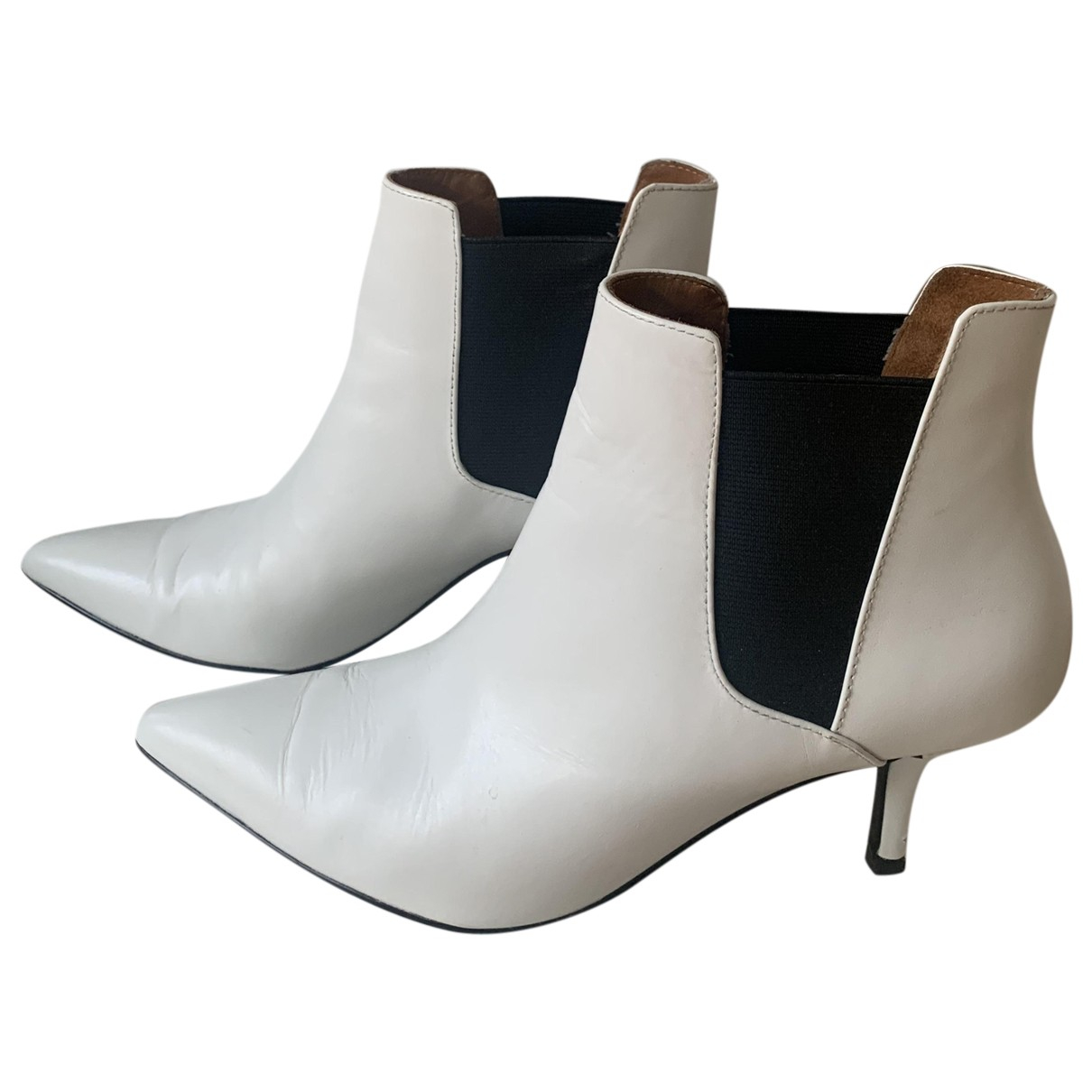 & Stories \N White Leather Boots for Women 37 EU