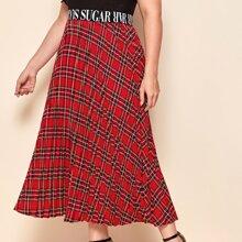 Faldas Extra Grande A cuadros Preppy