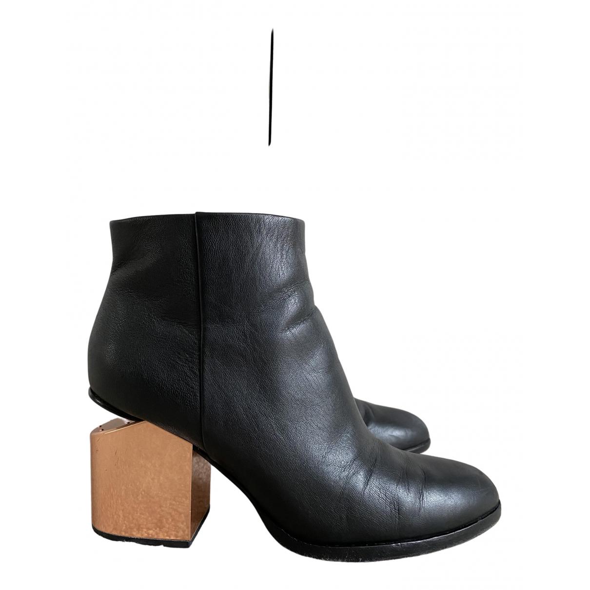 Alexander Wang - Bottes   pour femme en cuir - noir
