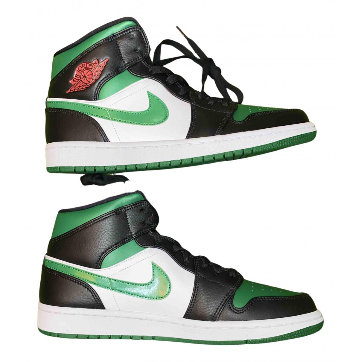 Jordan Air Jordan 1  Green Leather Trainers for Men 9 UK