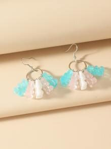 Bear Tassel Drop Earrings