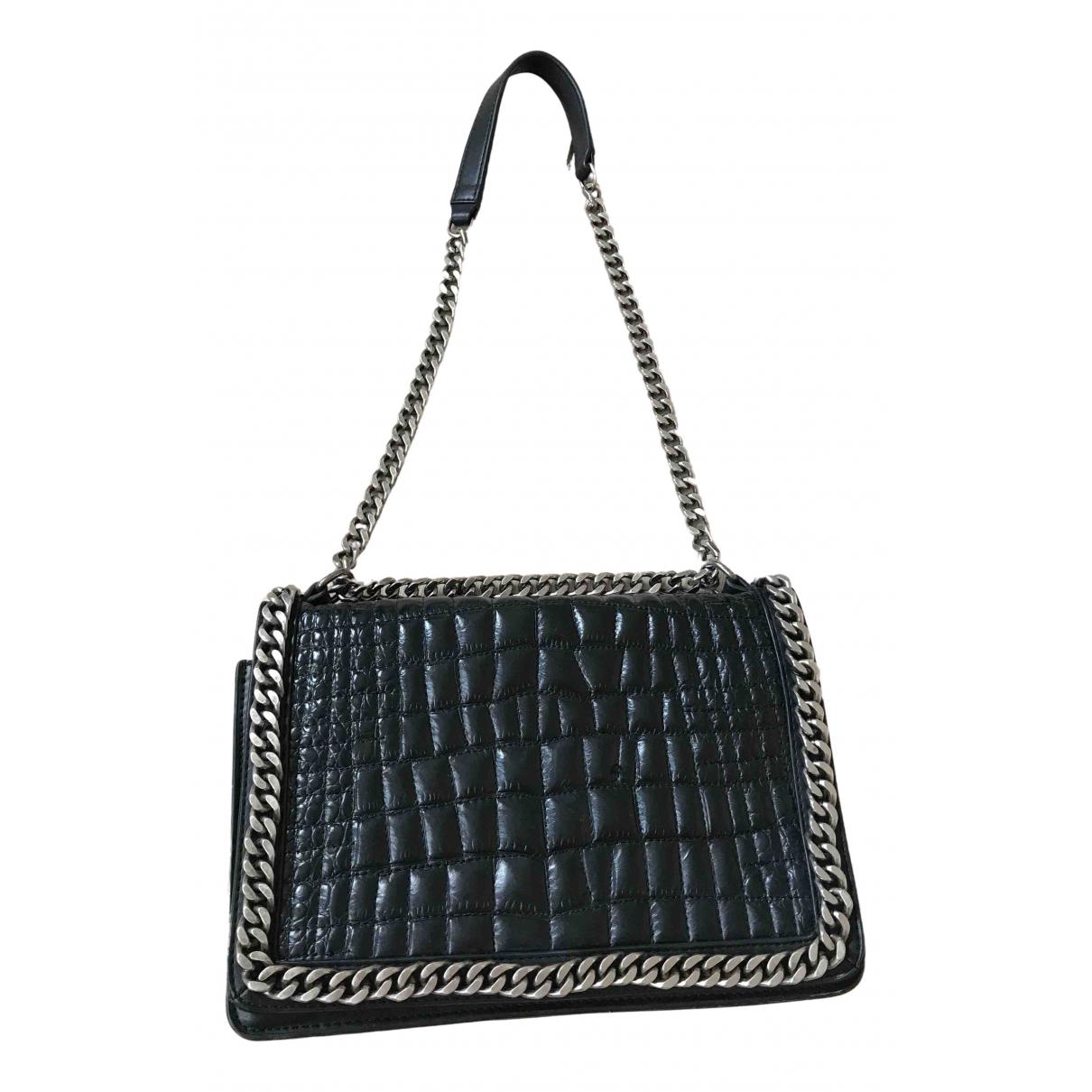 Zara - Petite maroquinerie   pour femme en cuir - noir