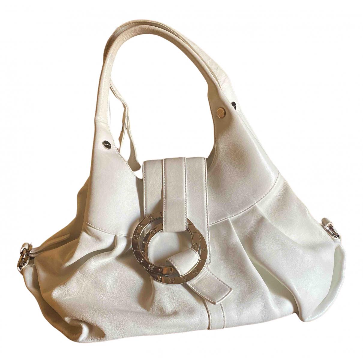 Bvlgari - Sac a main   pour femme en cuir - blanc