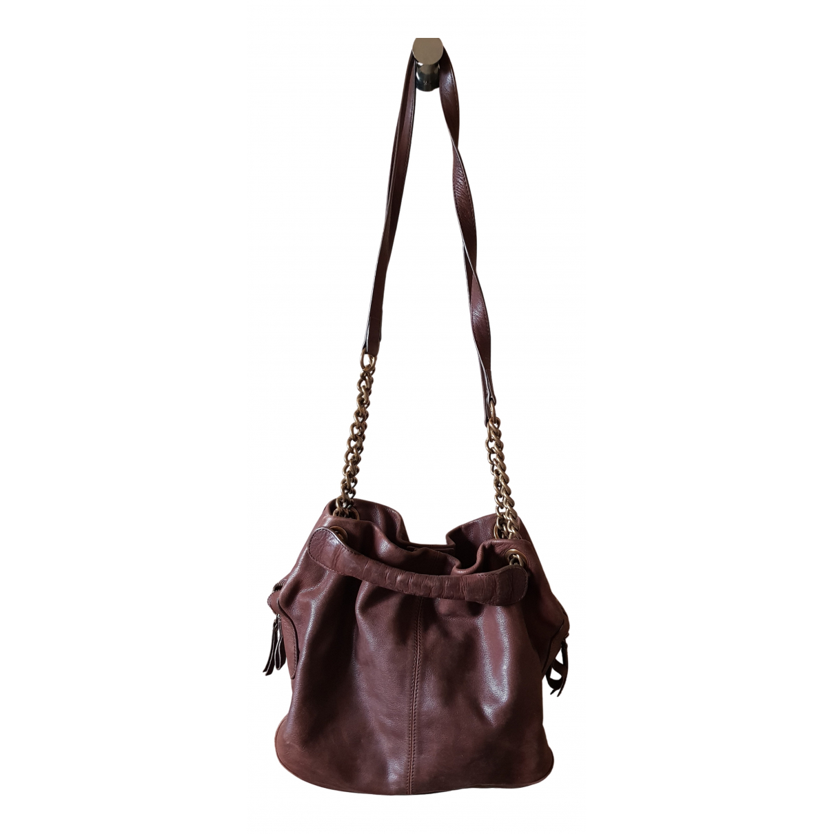 Vanessa Bruno Caprice Brown Leather handbag for Women N