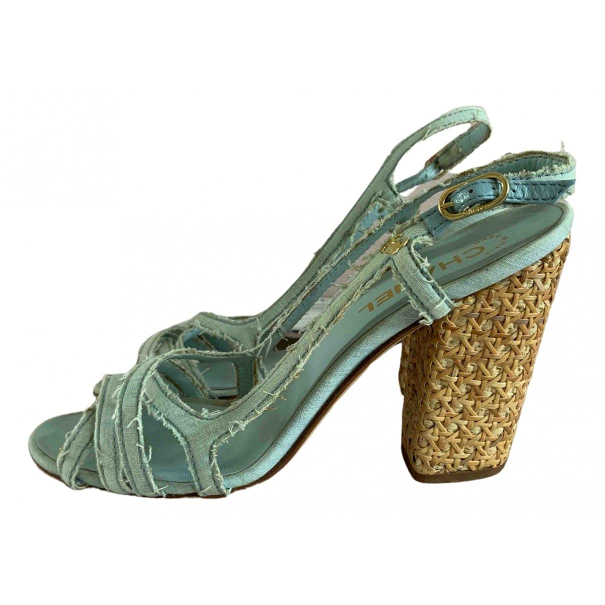 Chanel \N Blue Leather Heels for Women 40.5 EU