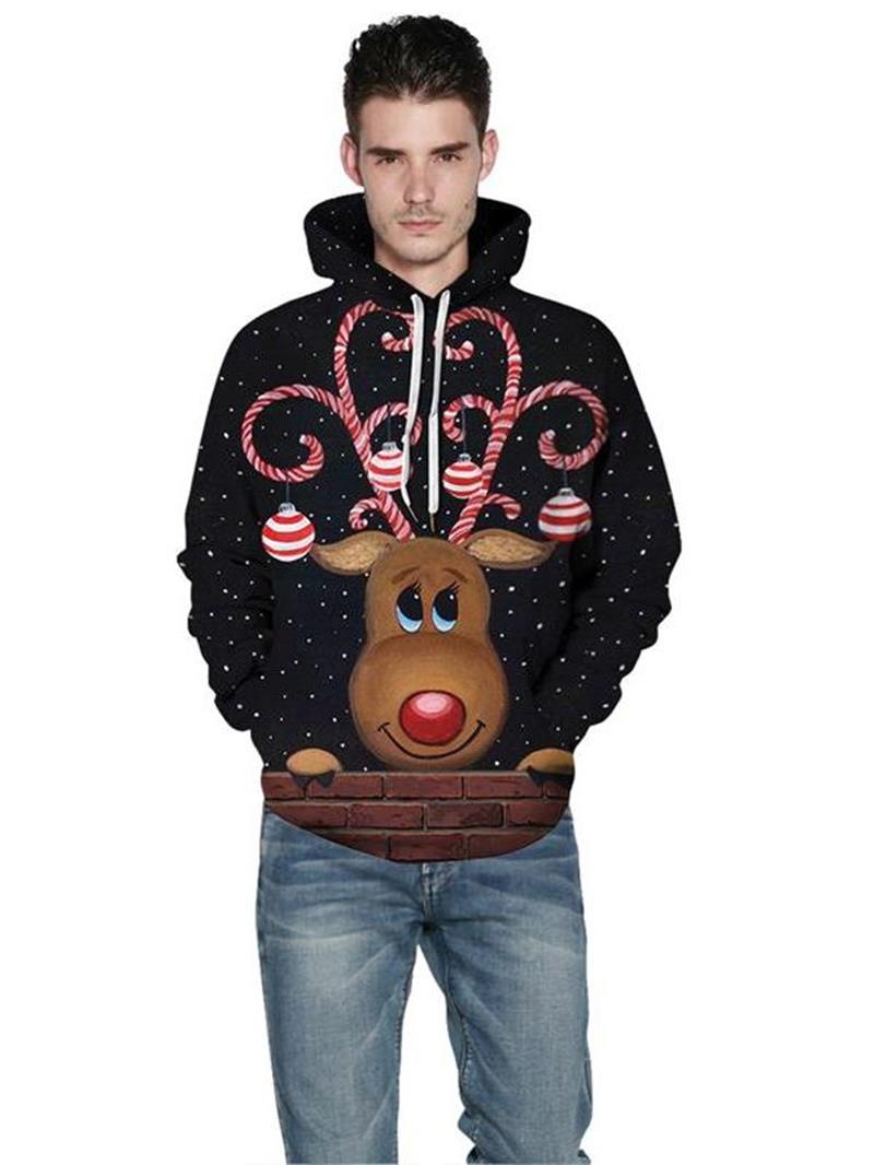 Ericdress Pullover Animal 3D Loose Men's Hoodies