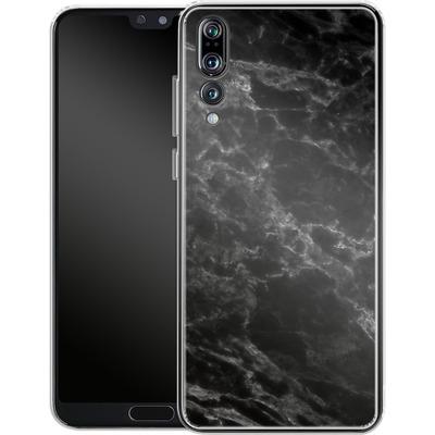 Huawei P20 Pro Silikon Handyhuelle - Midnight Marble von caseable Designs