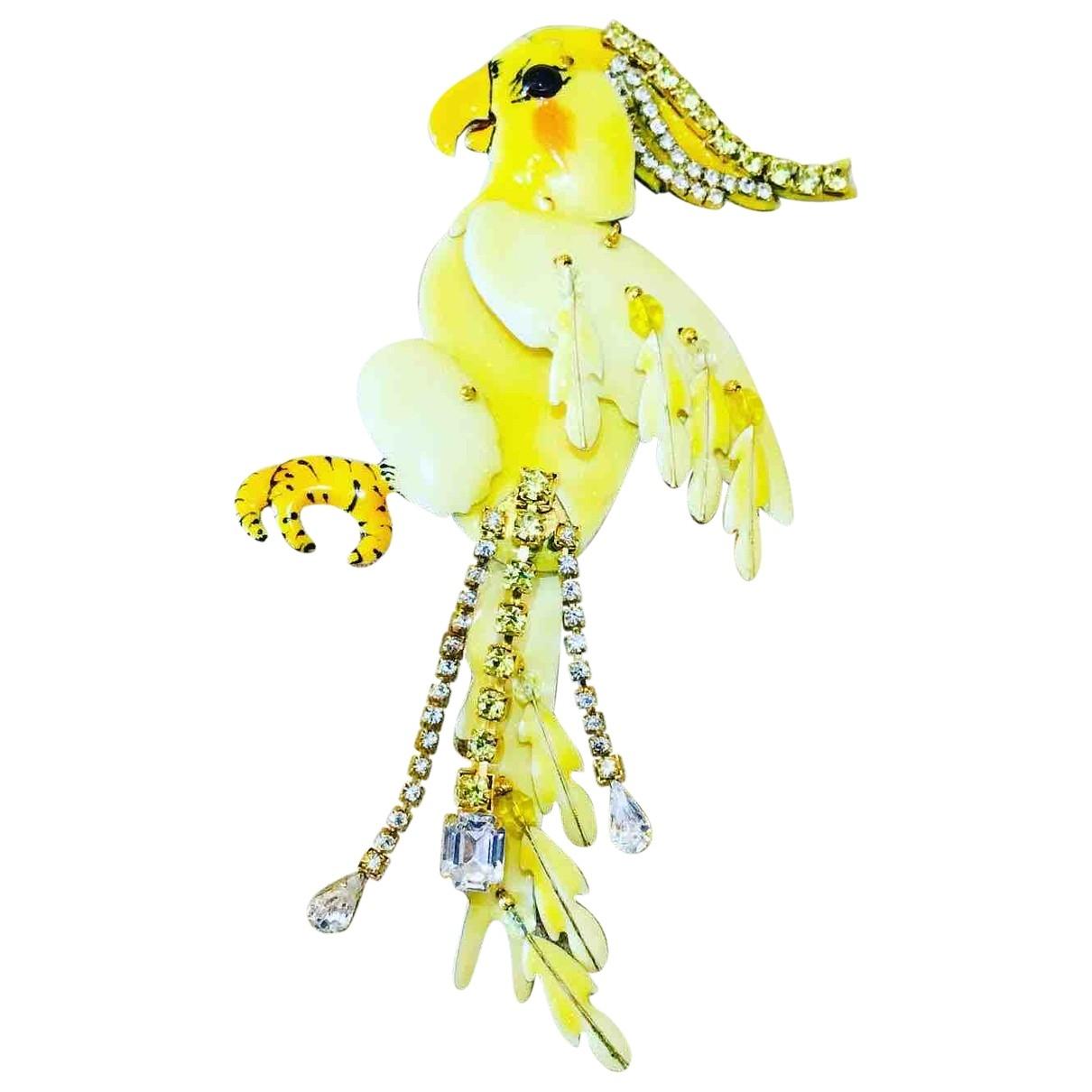 - Broche   pour femme en metal - jaune