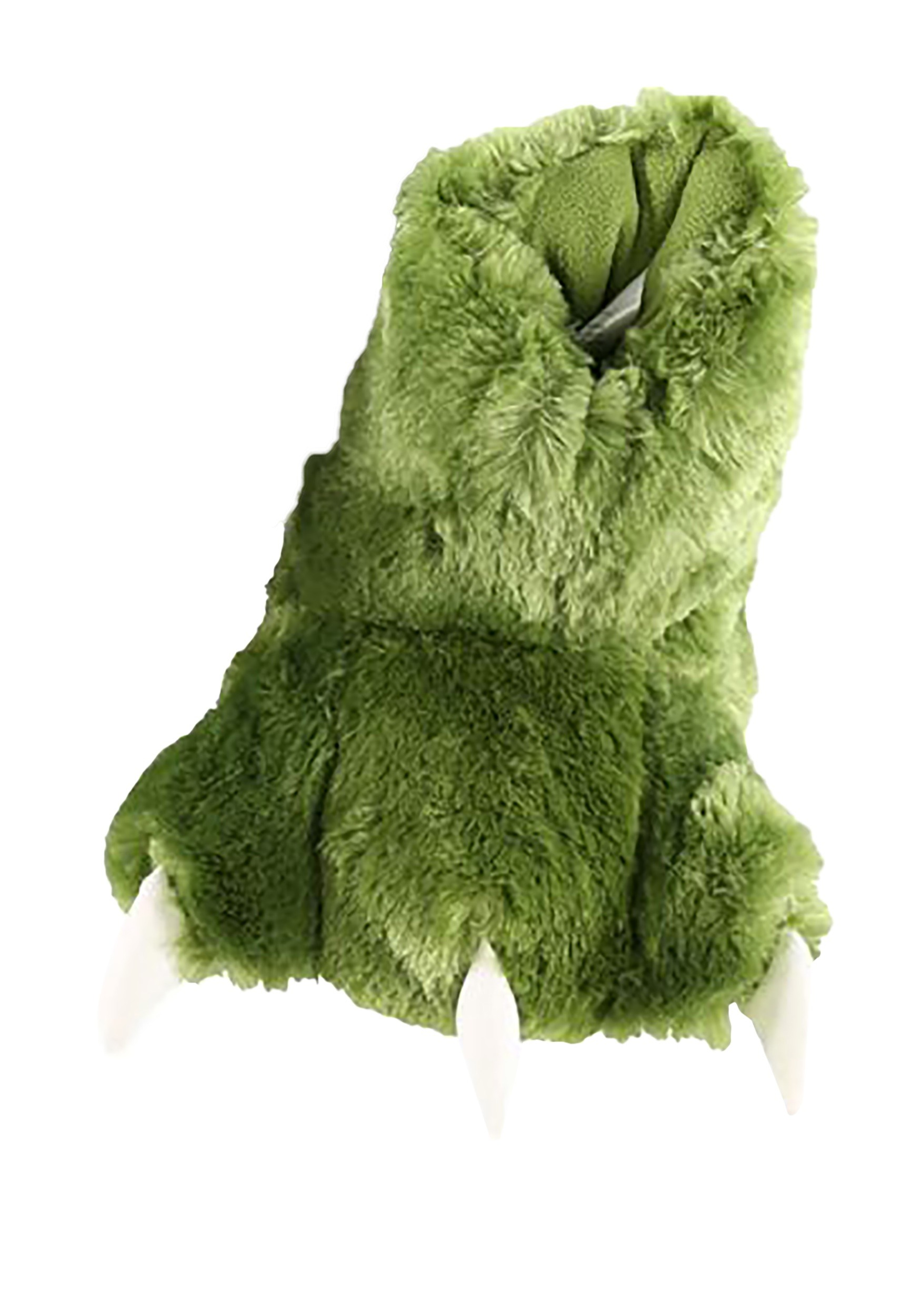 Green Dino Paw Child Slippers
