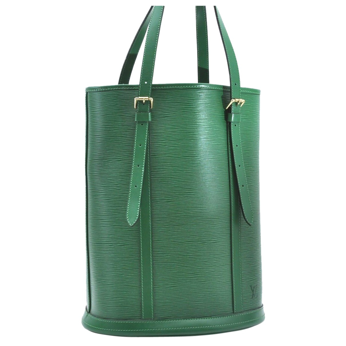 Louis Vuitton N Green Leather handbag for Women N