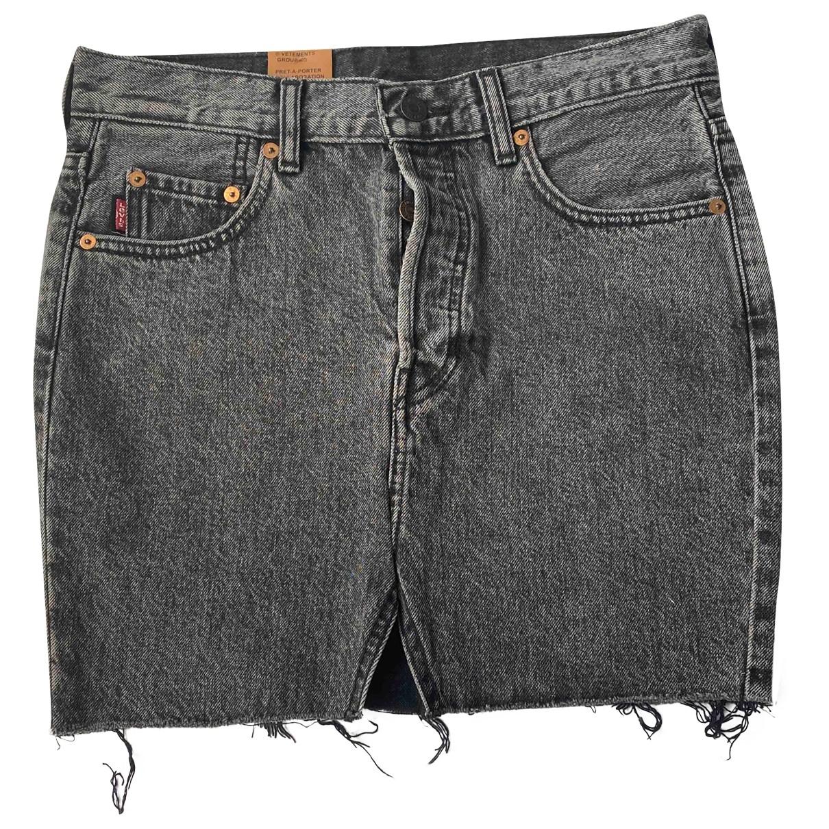 Vetements X Levis \N Rocke in  Schwarz Denim - Jeans