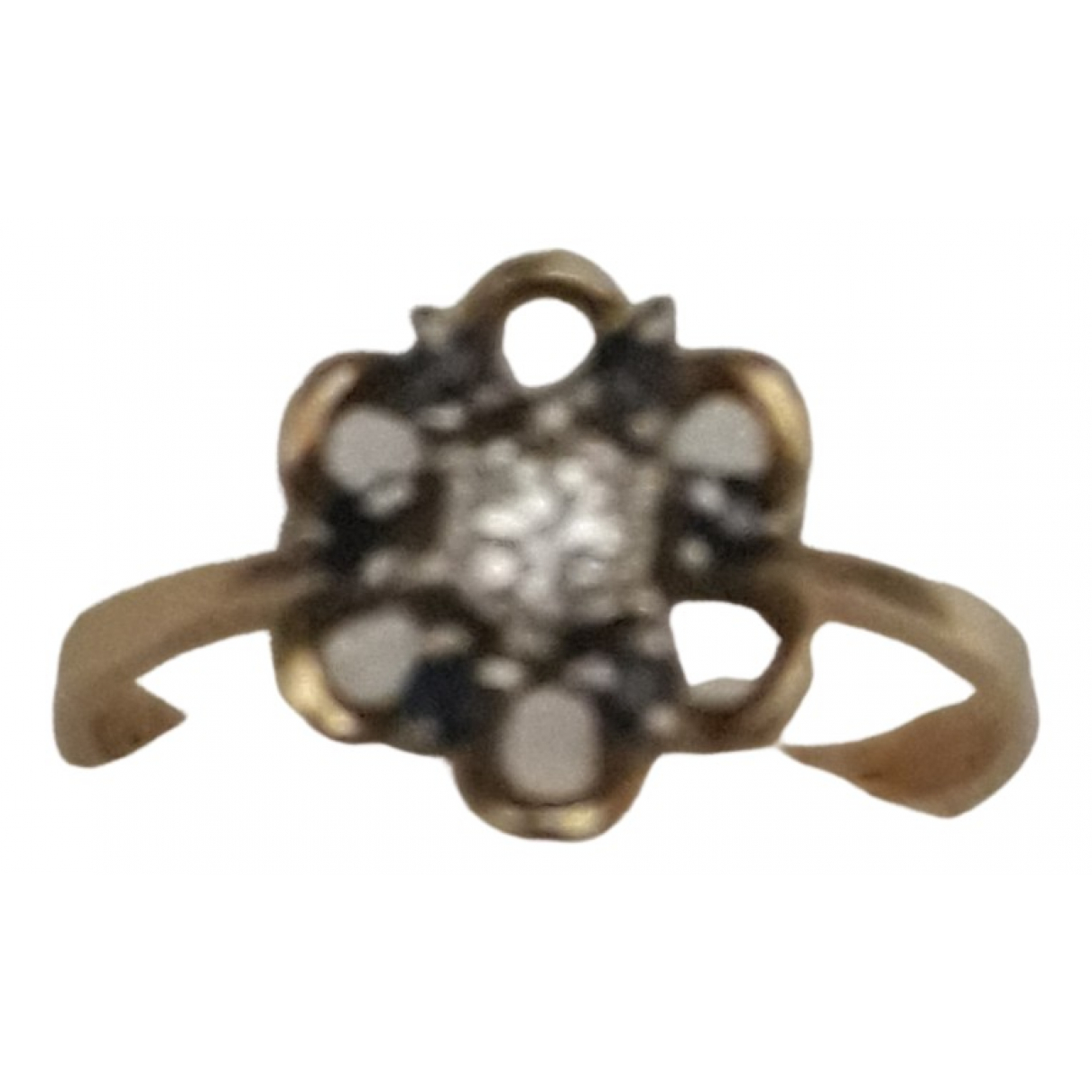 Non Signe / Unsigned \N Ring in  Gelb Gelbgold