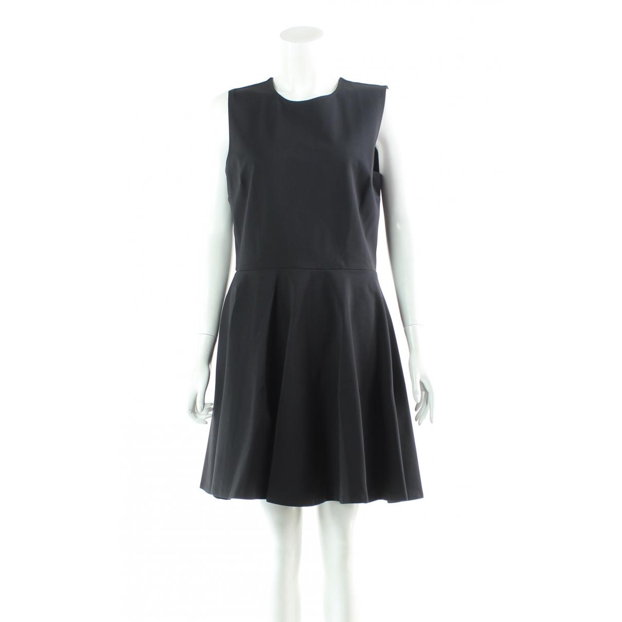 Diane Von Furstenberg \N Kleid in  Schwarz Synthetik