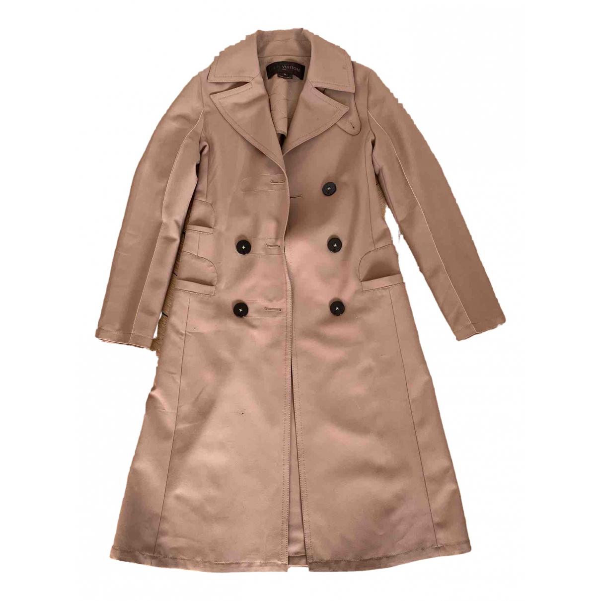 Louis Vuitton N Beige Cotton Trench coat for Women 34 FR
