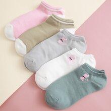 5 Paare Socken mit Katzen Muster
