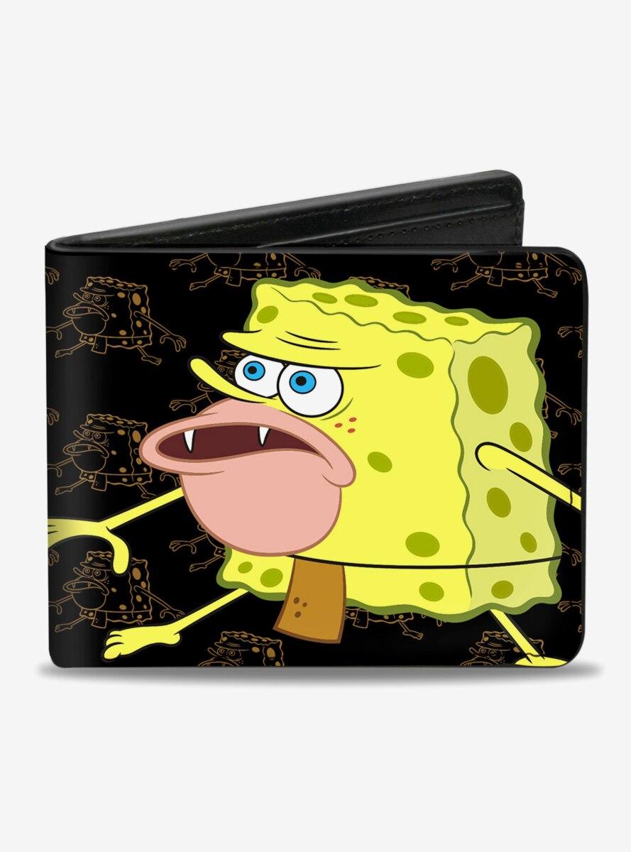 Spongebob Squarepants Primitive Poses Outlines Bi-Fold Wallet