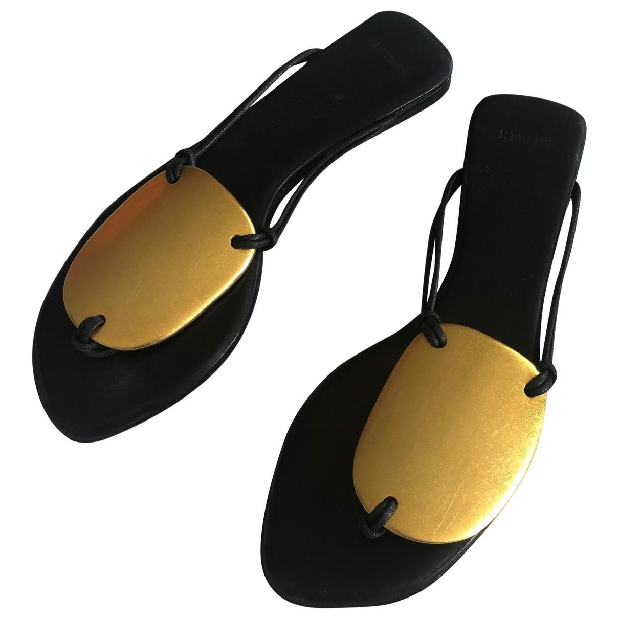 Hermes \N Sandalen in  Gold Leder