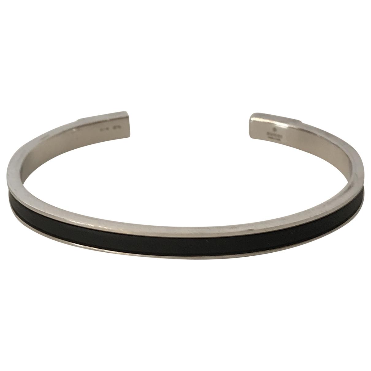 Gucci - Bracelet   pour femme en argent - noir