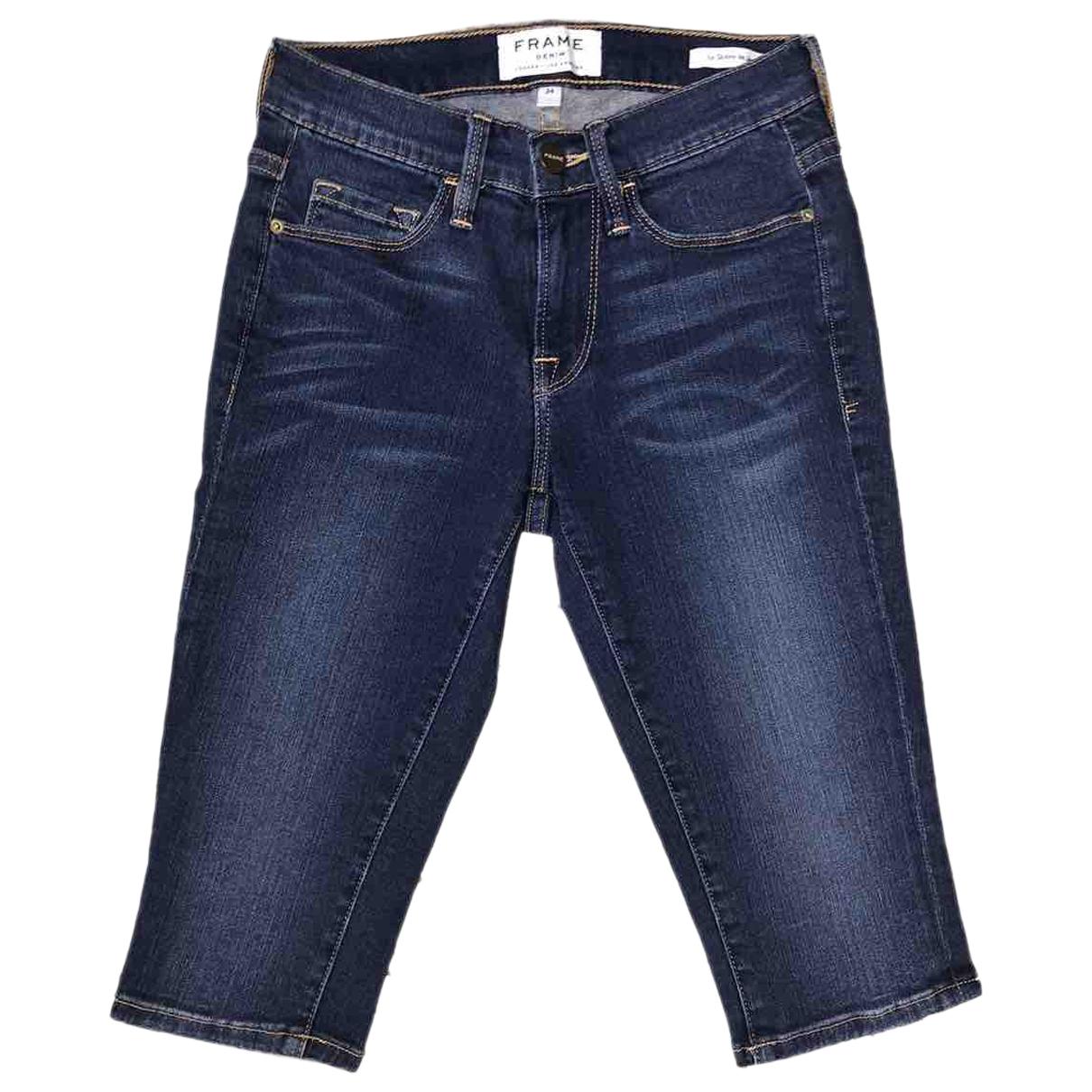 Frame Denim \N Shorts in  Blau Denim - Jeans