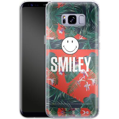 Samsung Galaxy S8 Plus Silikon Handyhuelle - Tropical Groove von Smiley®