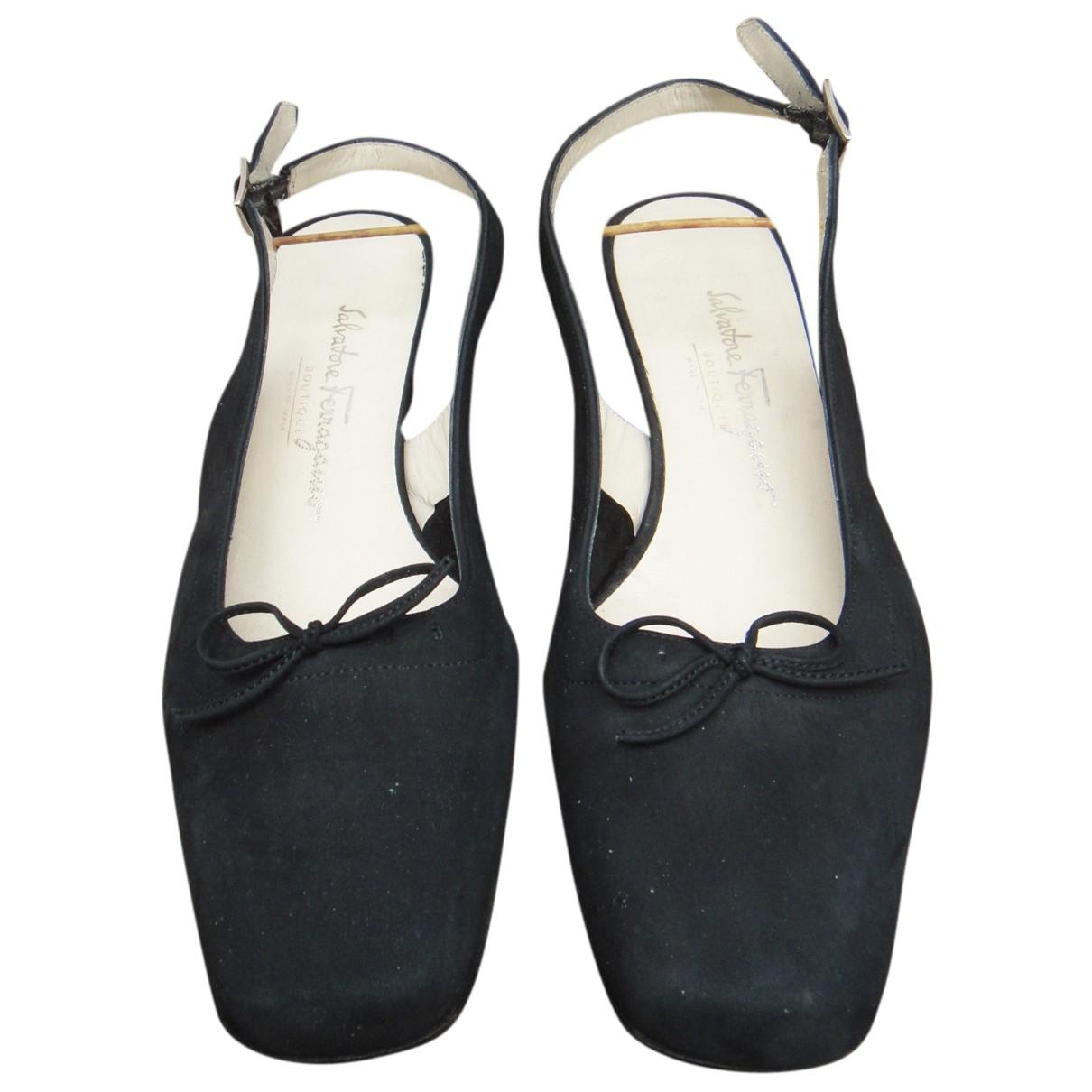 Salvatore Ferragamo N Black Suede Heels for Women 7 US