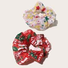 2 Stuecke Weihnachten Haarband mit Glitzer
