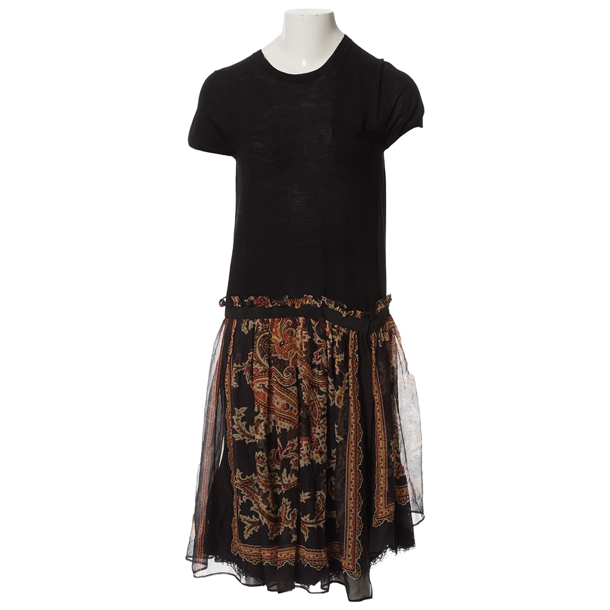 Sacai \N Kleid in  Schwarz Wolle
